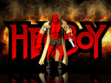Слоты игрового автомата Hellboy на деньги в процессе вращения барабанов